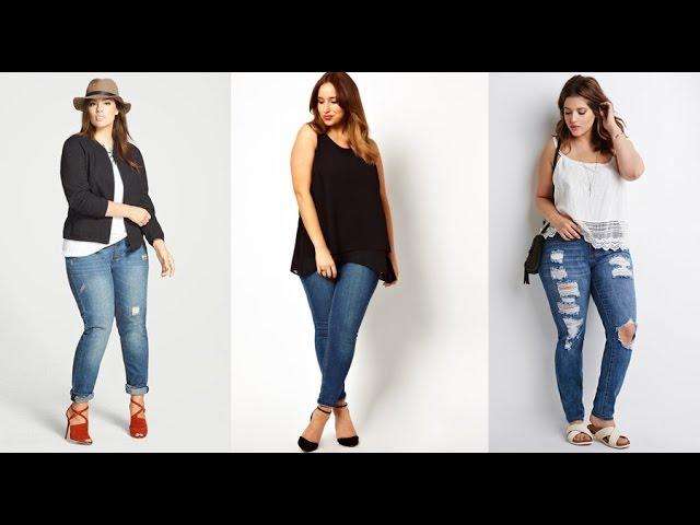 Ropa Para Gorditas Jeans Para Gorditas Moda 2019 Tallas Grandes Youtube