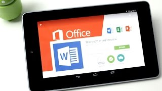 Microsoft Touch Office Preview für Android Tablets ausprobiert (Deutsch) | InstantMobile