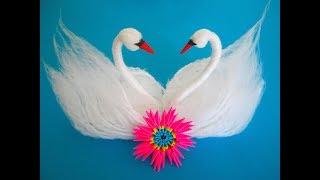 DIY: Swans from yarn/Schwäne aus Garn