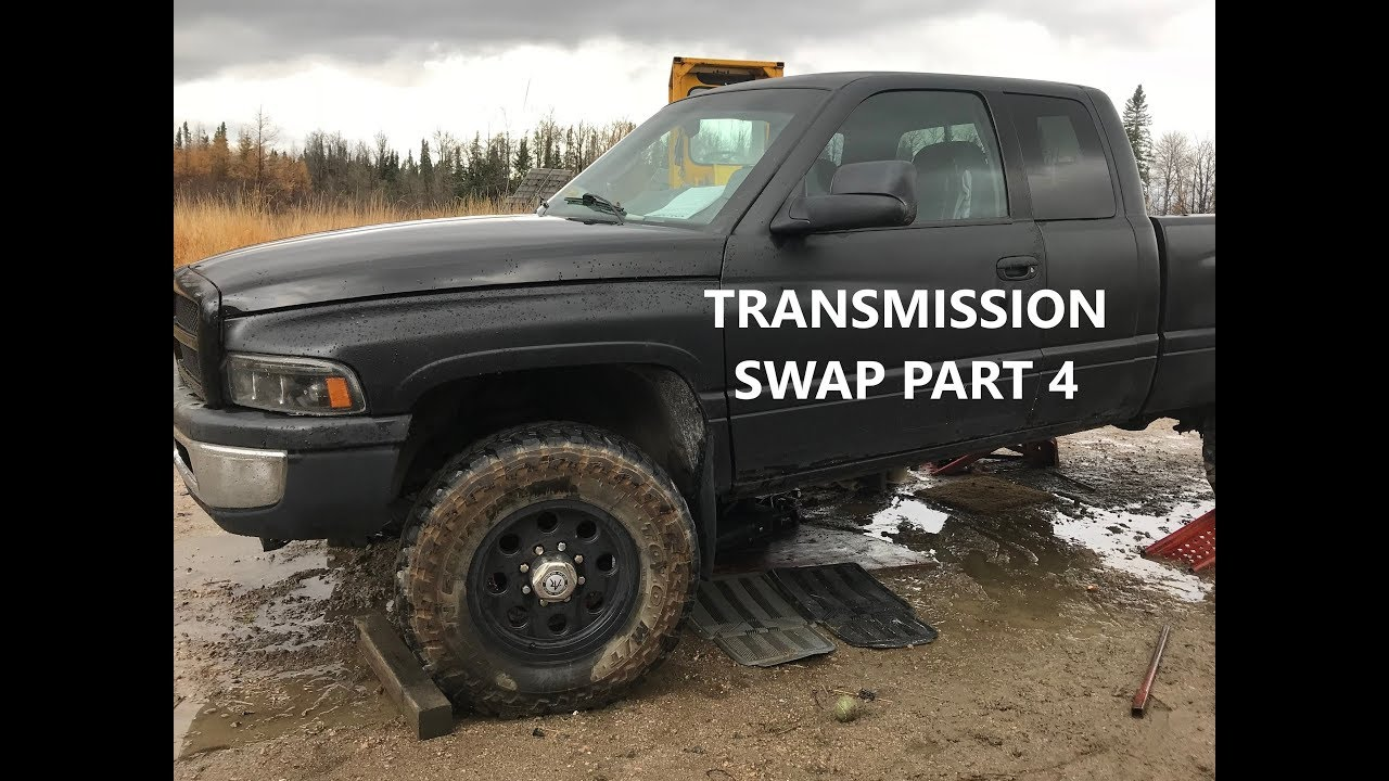 DODGE CUMMINS AUTO TO NV4500 MANUAL TRANSMISSION SWAP PT4
