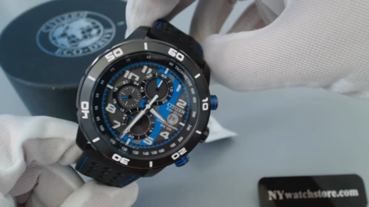 c958dc10e3f Men s Citizen Eco Drive Unstoppable Primo Chronograph Watch CA0467 - 03E -  YouTube