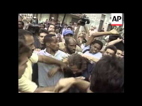 CUBA: HAVANA: DISSIDENTS MARCH ENDS IN VIOLENCE