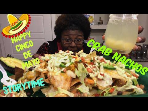 Seafood MUKBANG: Happy Cinco de Mayo Crab Nachos  Joes Crab Shack   Mini Eating Show   Giveaway