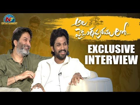 allu-arjun---trivikram-ala-vaikunthapurramuloo-exclusive-interview-|-ntv-entertainment