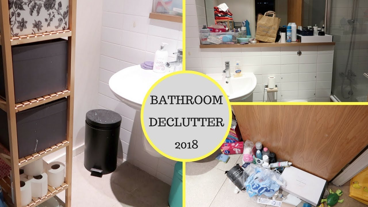 Bathroom Declutter Whole House Week 1