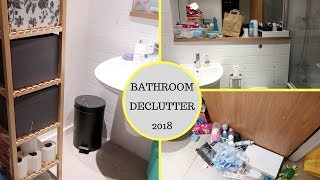 BATHROOM DECLUTTER || WHOLE HOUSE DECLUTTER || WEEK 1