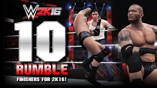 WWE 2K16 | Top 10 Royal Rumble Finishers