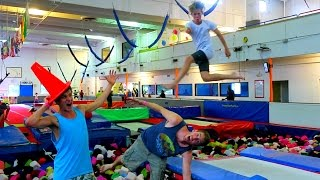 awesome trampoline park and tricks