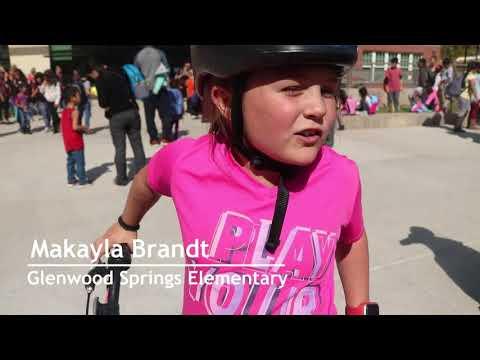 Glenwood Springs Elementary School Students Talk Bike Helmet Safety