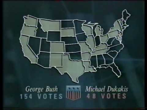 Nine O'Clock News Election of George H W Bush - November 8th 1988