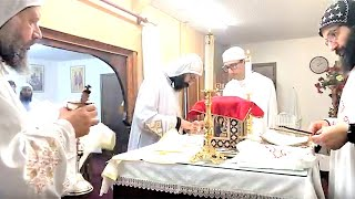 HG Bishop Youssef: Liturgy w/HG Bishop Basil (English-Live) @ St Mary & St Moses Abbey,TX~04/06/2020