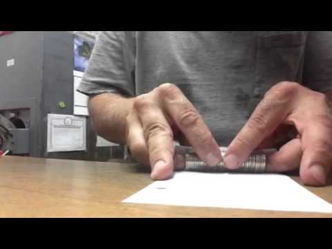 How To Roll Coins With Just A Sheet Of Paper - Part 1