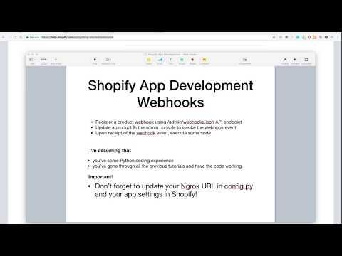Shopify App Development - Webhooks: Registering and Responding - YouTube