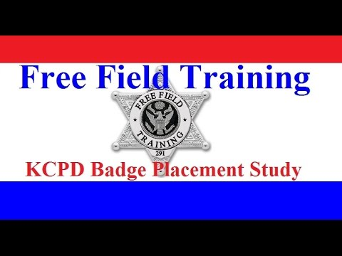 Police Badges The Kansas City Badge Placement Study Youtube