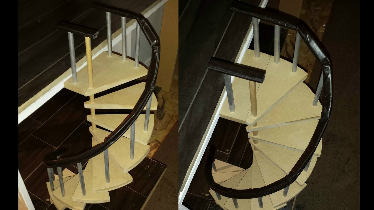 How To Make A Doll Spiral Staircase Youtube   Making A Spiral Staircase   Outline   Abandoned   Well Labelled   Beautiful   Slide