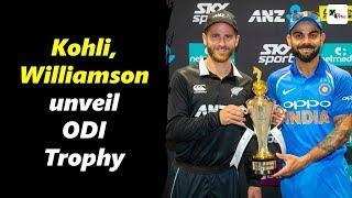 Watch: Virat Kohli & Kane Williamson unveil trophy for ODI series | New Zealand vs India