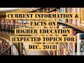 Expected Current Topics on Higher Education by Be Prepare for UGC-NET