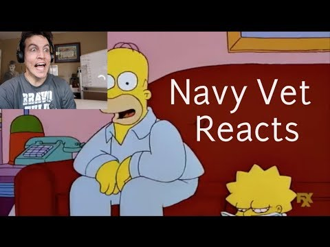 Homer Simpson JOINS the U.S. Navy - Sailor Reacts