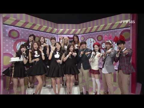 140309 SNSD Interview + Taeyeon Birthday Live SBS Inkigayo ♥