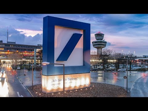 Airport Berlin-Tegel | Deutsche Bank Logo - Construction Time Lapse