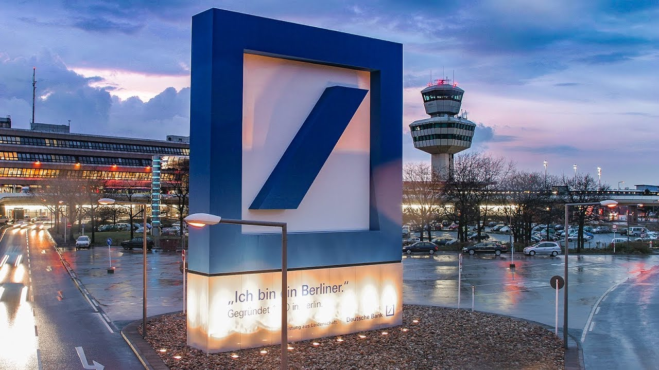 airport berlin tegel deutsche bank logo construction time lapse youtube. Black Bedroom Furniture Sets. Home Design Ideas