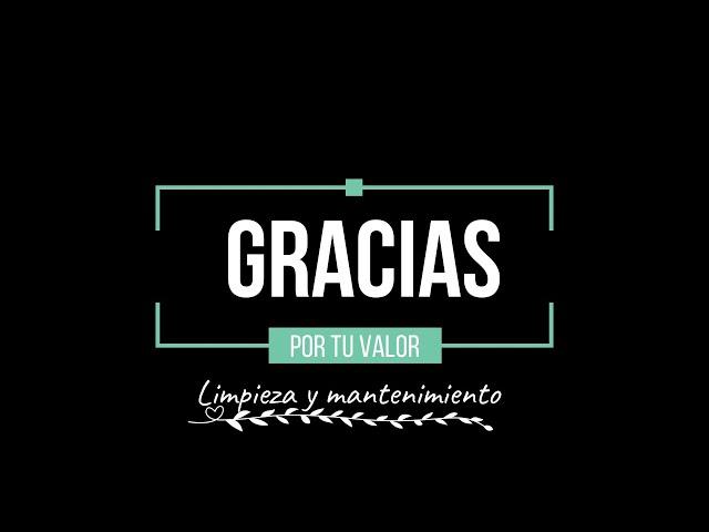#GraciasXTuValor, profesionales de la limpieza y el mantenimiento