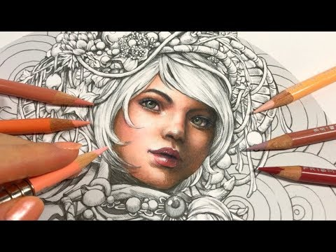 SKIN COLORING | A Girl with Fruits - Part 1 | SERENE Coloring Book