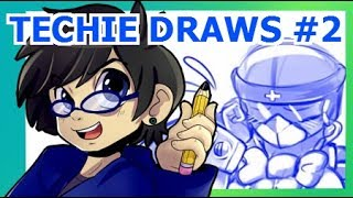 "TECHIE DRAWS! (""Anime"" Gobots Femmes!) #2"