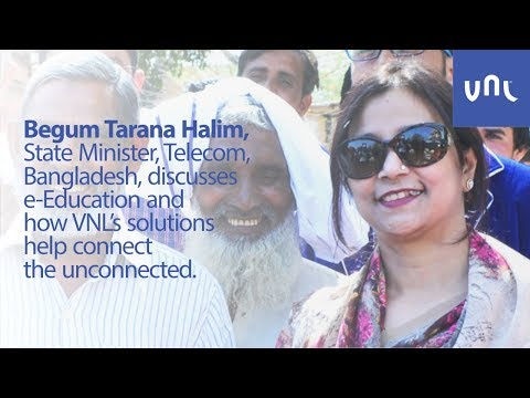 Begum Tarana Halim, State Minister, Telecom Bangladesh, talks about e-Education.