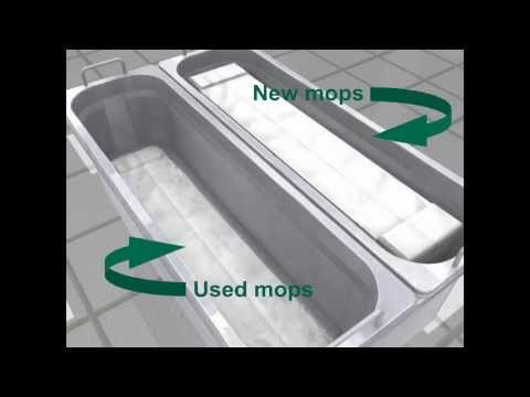 How to use a 2 bucket cleanroom mop system