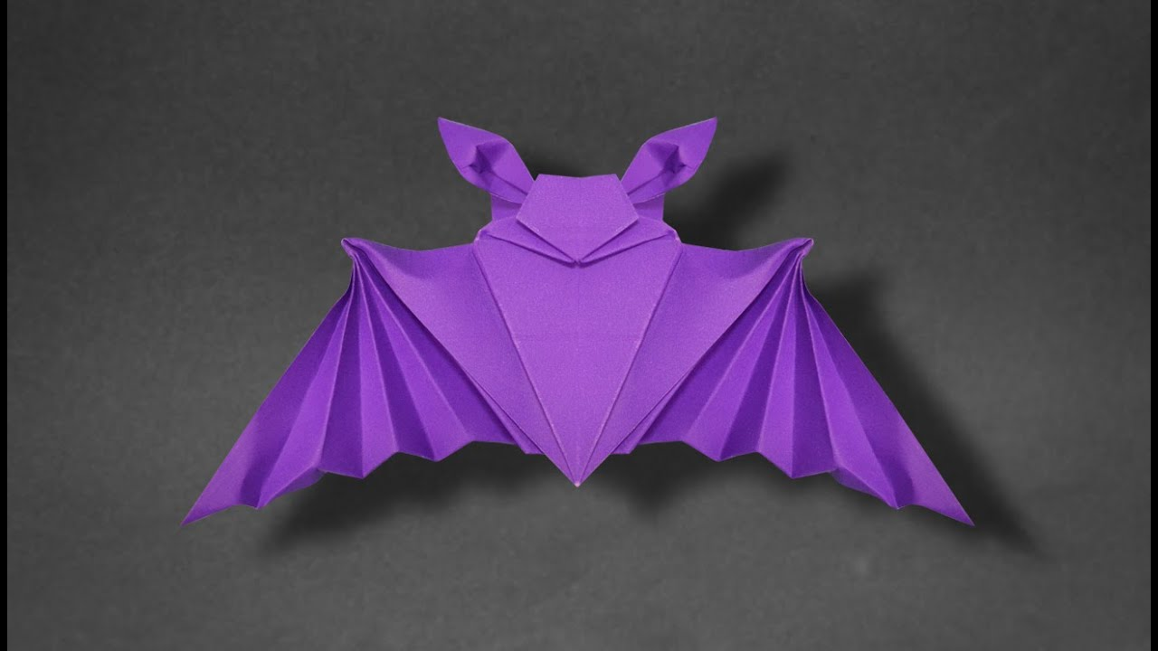 origami bat instructions in english br youtube
