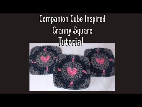 Crochet Companion Cube Square Tutorial