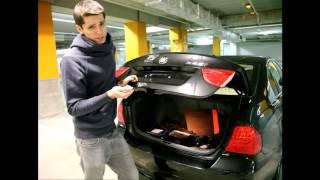 видео Антивандальная рамка для номера с логотипом Benz (хром)