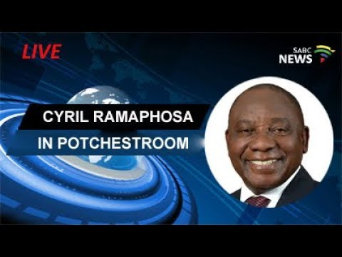 Ramaphosa addresses members of Potchestroom Chamber of comme