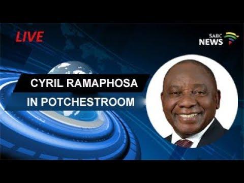 Ramaphosa addresses members of Potchestroom Chamber of commerce