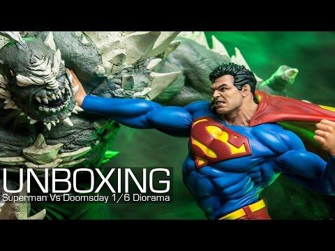 UNBOXING - DC Comics Superman vs Doomsday 1/6 Diorama Iron Studios