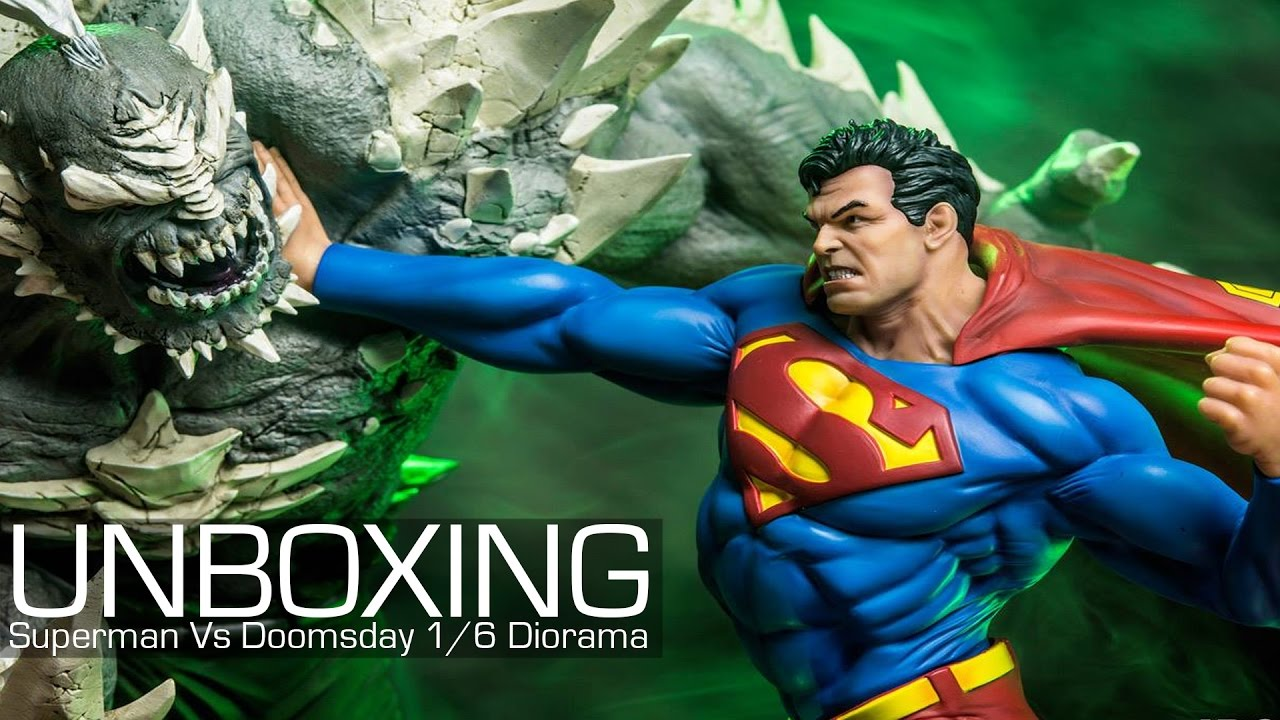 UNBOXING - DC Comics Superman vs Doomsday 1 6 Diorama Iron Studios ... 0a5f74026ad