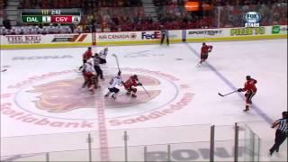 Roman Cervenka goal Feb 13 2013 Dallas Stars vs Calgary Flames NHL Hockey