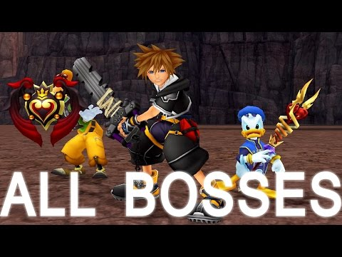 Kingdom Hearts 2 Final Mix: All Bosses (PS3 1080p)