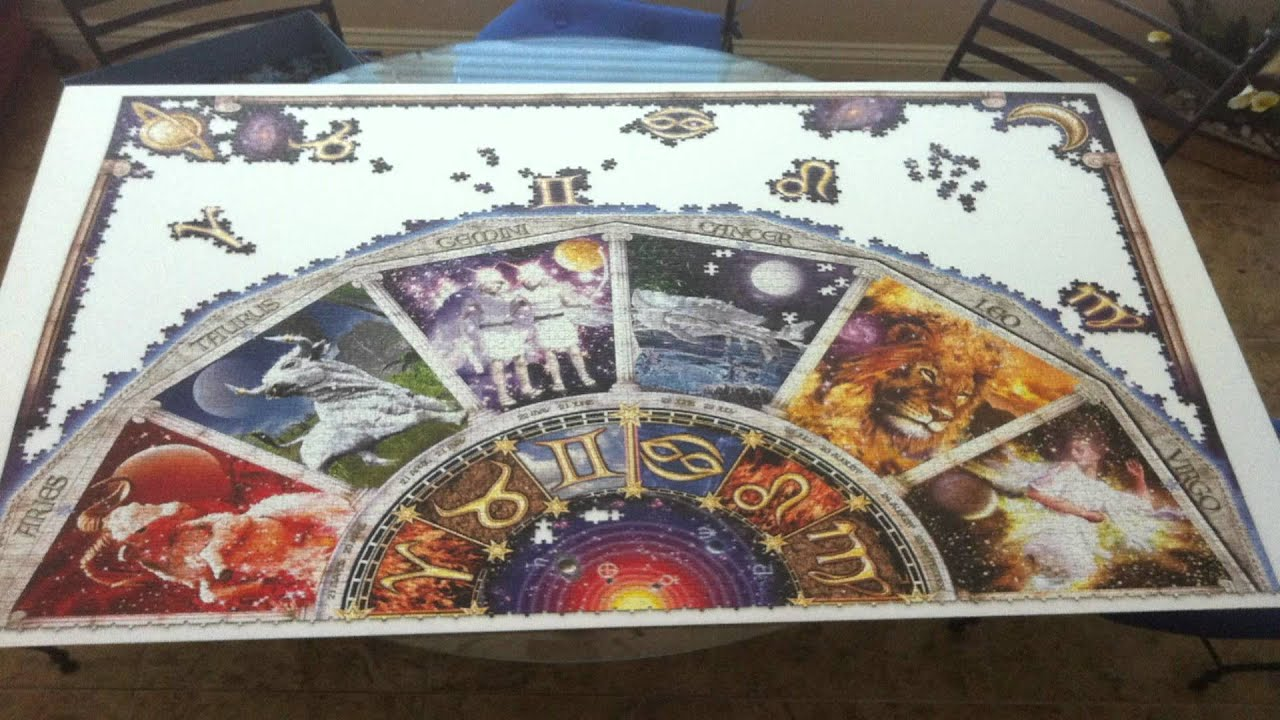 9000 piece puzzle time lapse astrology youtube for Custom 5000 piece puzzle