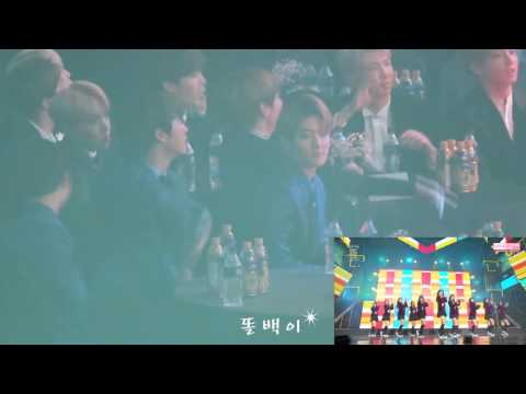 170119 EXO Reaction To IOI Pick Me + Dream Girls @ SMA 2017