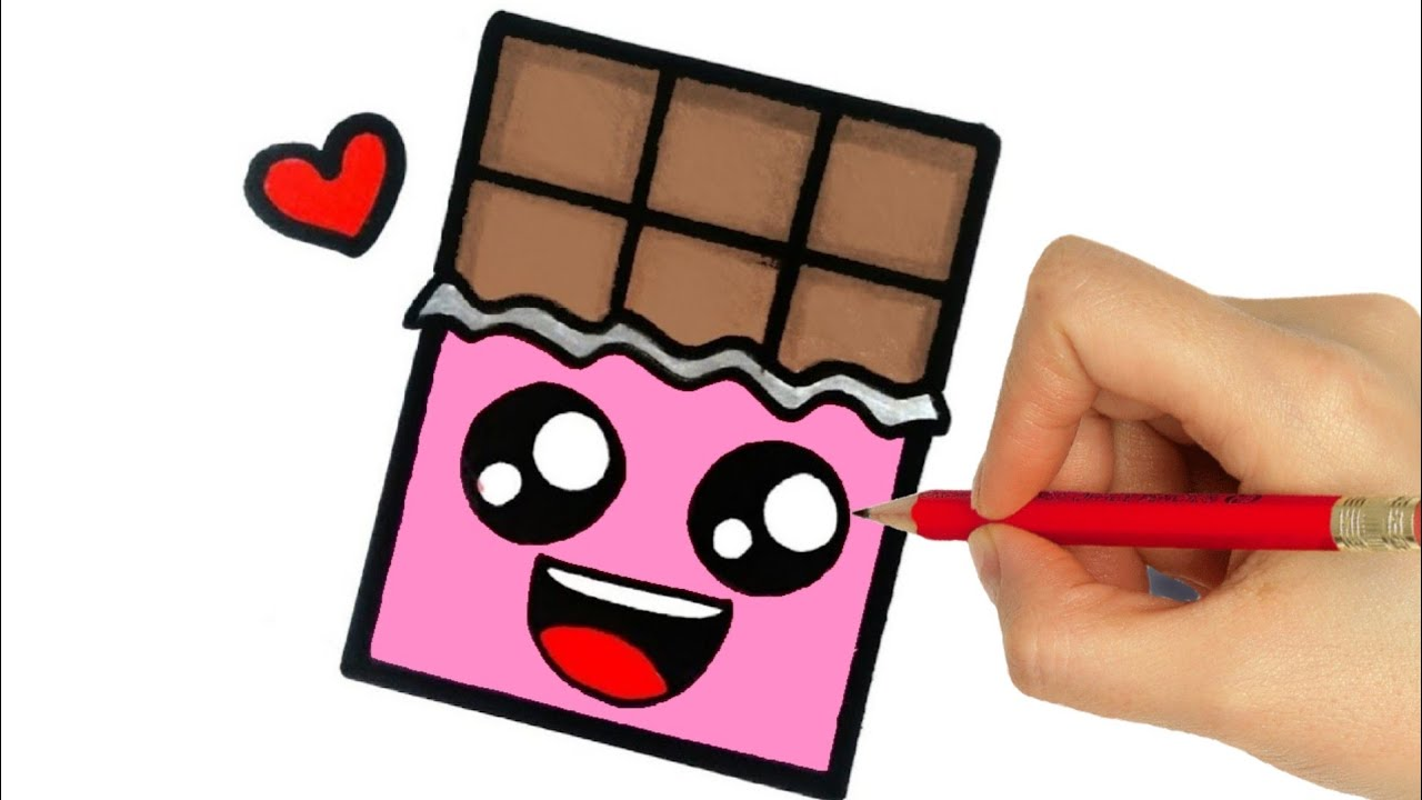 How To Draw A Chocolate Step By Step Youtube