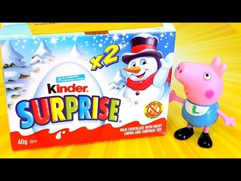 peppa-pig-george-kinder-surprise-eggs-xmass-unboxing