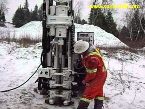 Small, agile and powerful, this mini sonic drill rig outperforms!