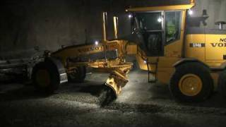 Volvo working Underground, Volvo Construction machines in Underground operation in Norway
