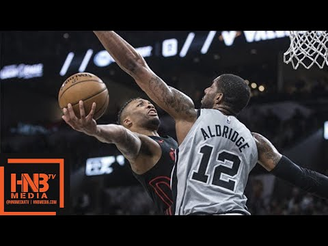 Portland Trail Blazers vs San Antonio Spurs Full Game Highlights / April 7 / 2017-18 NBA Season