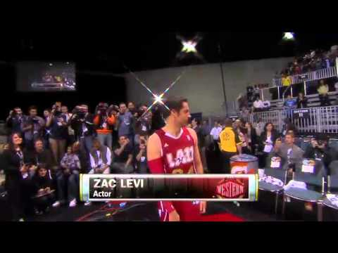 Zachary Levi At The 2011 NBA All-Star Celebrity Game - Introduction