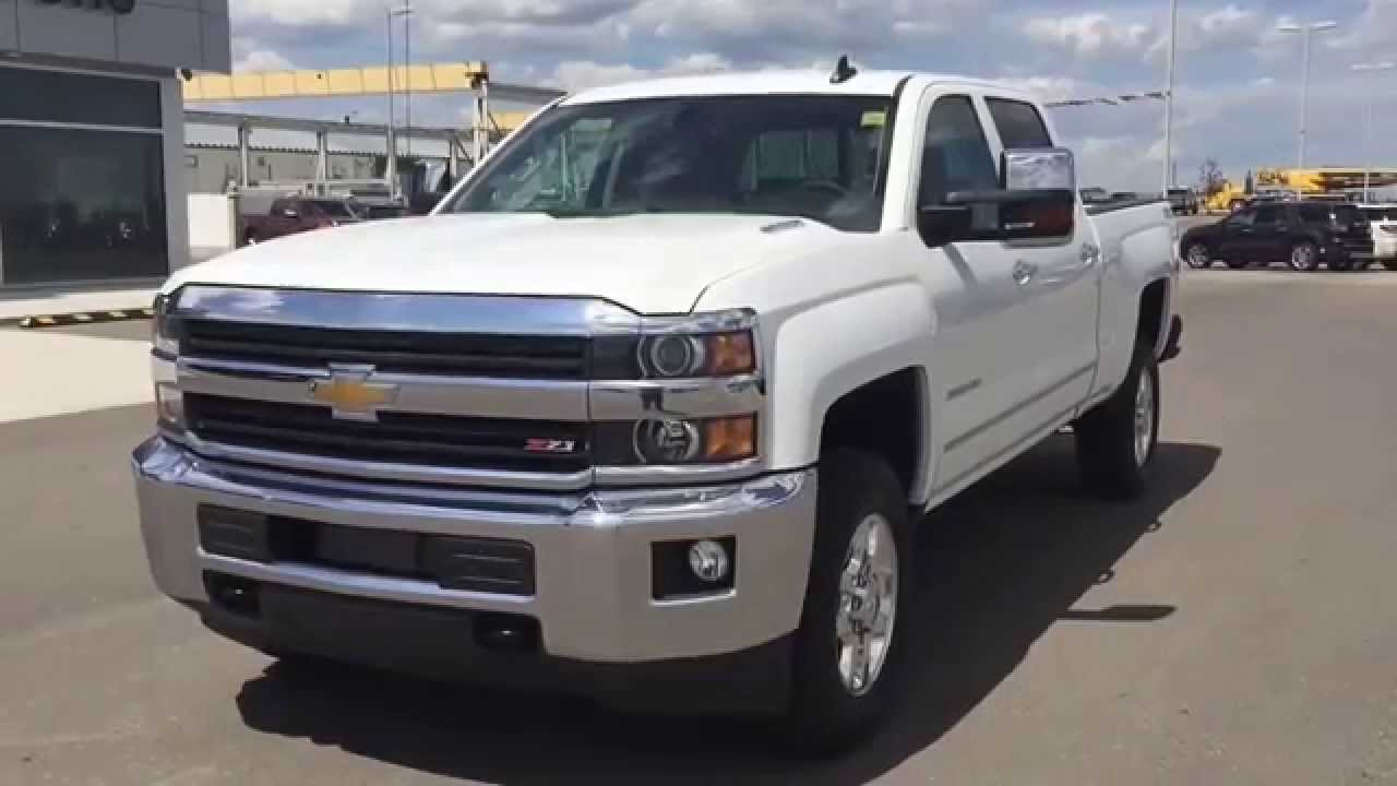 Summit white 2015 chevrolet silverado 3500 4wd crew cab heavy duty truck