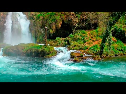 Relaxing Music with Nature Sounds - Waterfall HD - Прикольное видео онлайн