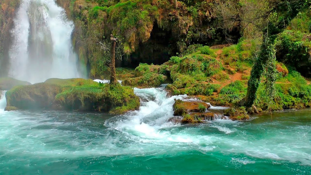 Relaxing music with nature sounds waterfall hd youtube - Nature wallpaper of waterfall ...